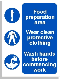 Food Preperation Area Sign